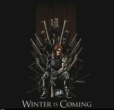 Captain America The Winter Soldier Game of Thrones t-shirt Winter is Coming new