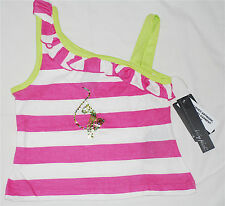 NWT Baby Phat Infant and Toddler Sequined Cat Striped One Shoulder Tank