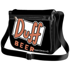 The Simpsons Borsa Uomo Donna Men Messenger Bag Borsello Duff Beer Matt Groening