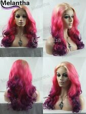 """16""""-28"""" New  Ombre Front Lace Wigs Synthetic Heat Friendly Melantha Hair"""