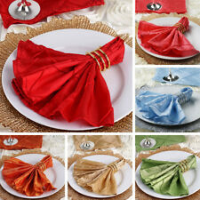 """100 pcs Pintuck 17x17"""" TABLE NAPKINS Wedding Party Catering Banquet Linens SALE"""