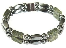 Mens Russian Serpentine Jade Magnetic Bracelet Anklet THERAPY 1-2 row QUICK SHIP
