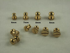 Round Head Solid Brass Chicago Screw Studs Nail Rivets DIY Leather Belt Wallet