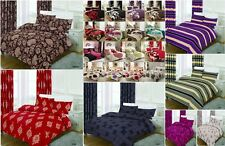 NEW QUILT DUVET COVER BEDDING SET WITH PILLOWCASES SINGLE DOUBLE KING SUPER KING