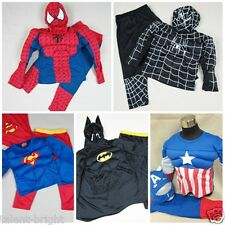 Boys Girls Kids Muscle Superhero Cosplay Fancy Dress Outfit Costume 2-7 Years