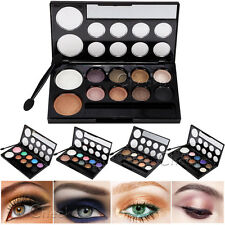 Hot Makeup Eyeshadow Palette 10Color Eye Shadow Cosmetic Natural Smoky Party Set