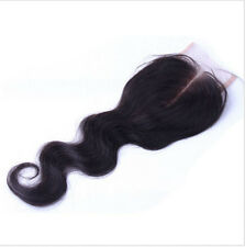 100% Brazilian Virgin Human Hair Middle Part Body Wave Top Lace Closure 4x4''