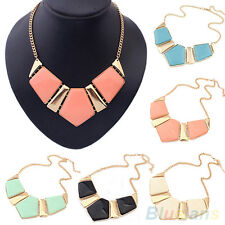 WOMEN'S GEMS BIB STATEMENT NECKLACE CHAIN CHUNKY COLLAR PARTY NECKLACE NEW BKBK