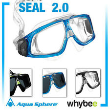 AQUA SPHERE SEAL 2.0 MENS SWIMMING MASK GOGGLES for SWIM POOL OPEN WATER SEA