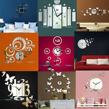 3D Modern Design Frameless Large Wall Clock DIY Home Decor Watches Hours ②