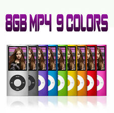"Brand New Slim 8GB 1.8"" LCD MP3 MP4 Player FM Radio Video 4th Gen Player"