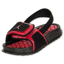 NEW BABY JORDAN HYDRO 2 SANDALS TODDLERS [487574-013] BLACK /GYM RED-BLACK