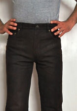 Leather Jeans Denim From Buff Nubuck Tall Quality Num. 1 Leather For Women's
