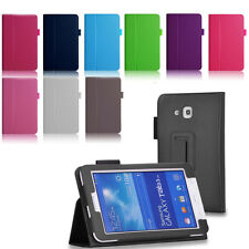 Slim Leather Folio Case Stand Cover for Samsung Galaxy Tab 3 Lite 7.0 SM-T110