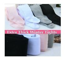 Kids Girls Extra Thick WINTER Sock Tights Legging*3-12yrs* Pink White Black Grey