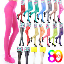 80D OPAQUE PANTYHOSE Sexy Womens Girl Long Candy Color Stockings Tights Leggings