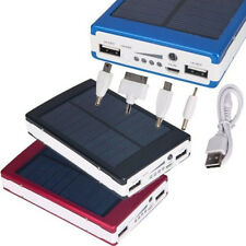 30000mAh  External Portable Solar Power Bank Dual USB Battery Charger for iPhone