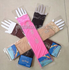 New Hot Drill 1 Pair  Lace Border Muslim Oversleeves Islamic Sleeves Arm Cover