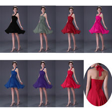 CHEAP Clearance Halter Bridesmaid Prom Ball Gown Cocktail Short Evening Dresses