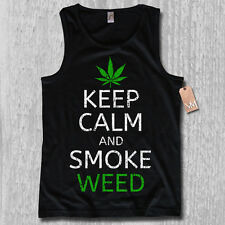 Tank Top - KEEP CALM AND SMOKE WEED - KULT Cannabis legalize DOPE S M L XL XXL