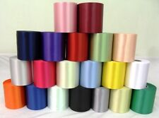 TOP QUALITY PLAIN POLYESTER RIBBON 100MM WIDE CHOICE OF COLOURS