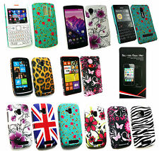 Stylish Hardback Clip On Case Cover for Various Nokia Models & Screen Protector