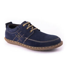 US 8-11 NEW GENUINE SUEDE LEATHER LACEUPS- leather Lining and rubber sole