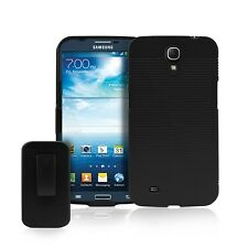 Hybrid Hard Shell Holster Belt Clip Cover Case Combo for Samsung Galaxy Mega 6.3