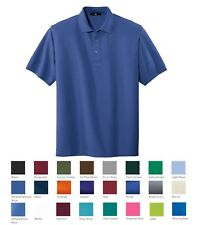 MEN'S WRINKLE & SHRINK RESISTANT, COTTON/POLY, POLO SHIRT, TALL LT XLT 2T 3T 4T