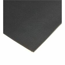 6mm Thick - Black Fine Ribbed Rubber Matting 1.2M Wide