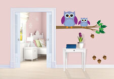 Owl Wall Tattoo Owl Branch Nr.2 - Wall Stickers For Kid's Room 5 Sizes