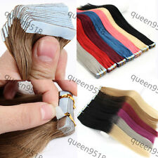 """New 16/18/20/22/24""""Skin Tape In Remy Human Hair Extensions Straight More Color"""