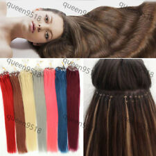 """New16""""18""""20""""22""""24""""26""""Loops Micro Ring Tipped Remy Human Hair Extensions Straight"""