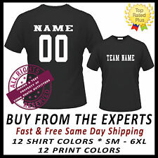 CUSTOM T SHIRT JERSEY PERSONALIZED NAME & NUMBER TOP QUALITY SHIRTS & PRINTING