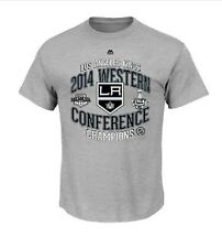 LA Kings 2014 NHL Western Conference Champions Official Locker Room T-Shirt Gray