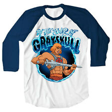 He-Man By The Power Of Grayskull Raglan Mens Tee,Cartoon,80's,Mightyfine