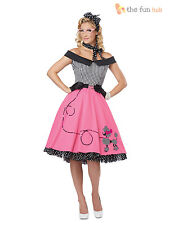 Ladies 50's Fancy Dress Costume Womens 1950s Rock and Roll Fifties Outfit