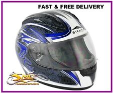 Stealth HD118 Blue Slayer Motorcycle Motorbike Helmet