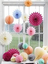 Talking Tables Hanging Decorations Garlands Honeycomb Ball Pom Poms Fans Wedding