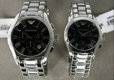 100% Brand New EMPORIO ARMANI Wristwatch Metal Chronograph LUX AR0673 or AR0674