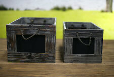 Vintage Style Timber Blackboard Storage Crates French Provincial NEW - 2 Sizes