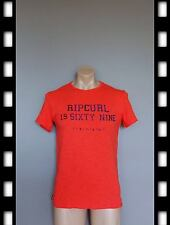 SIZE SMALL, BRAND NEW GENUINE MEN RIPCURL SPORTS GYM T SHIRT,RED