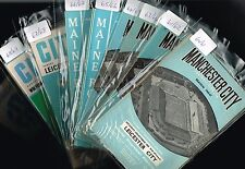 MAN CITY Home Programmes 1967-68 to 1969-70 (99p each) Sale!
