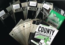 NOTTS COUNTY Home Programmes 1954-55 to 1969-70 (from 99p each) Sale! (Notts Co)