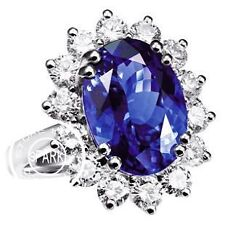 925 Sterling Silver Plated CZ Ring Crystal Diana Ring With Acrylic Ring Box