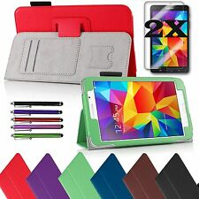 Samsung Galaxy Tab4 8.0 8-inch Tablet PU Leather Cover Case Stand / Accessories