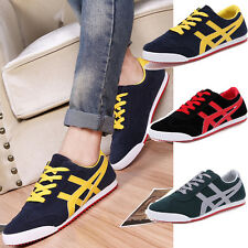 Men Patchwork Lace Up Shoes Driving Moccasin fashion Sneakers Plaid loafer XS674