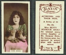 Carreras - Actresses & Their Pets 1926 #1 to #24 Film/Movie Cigarette Cards