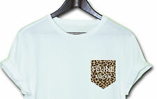 FELINE MEOW LEOPARD HIPSTER INDIE SWAG FUNNY T SHIRT TOP CLOTHING MEN WOMEN