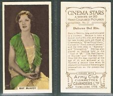 Cavanders - Cinema Stars (Hand Coloured) 1934 #1 to #30 UK Film Cigarette Cards